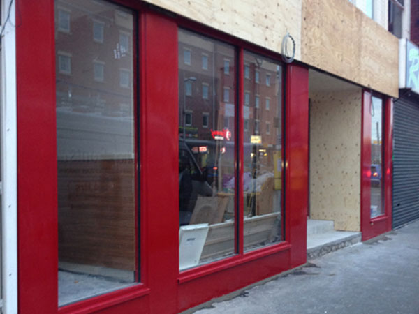 Glass shop fronts